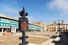 Quadrato principale La Mancha, Spagna di Almagro, Castiglia Immagine Stock Libera da Diritti