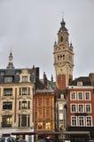 Quadrato principale a Lille, Francia Fotografie Stock Libere da Diritti
