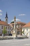 Quadrato principale in Ljutomer Slovenia Fotografia Stock Libera da Diritti