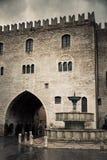 Quadrato principale nella città di Fabriano Fotografie Stock Libere da Diritti