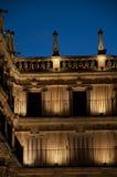 Quadrato principale nella città di Salamanca (Spagna) fotografie stock libere da diritti