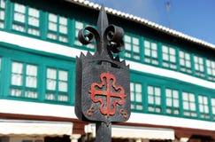 Quadrato principale a provincia di Almagro, Ciudad Real, Spagna Immagini Stock