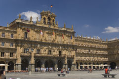 Quadrato principale. Salamanca, Spagna Fotografia Stock Libera da Diritti