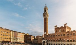 Quadrato principale a Siena, Toscana, Italia immagini stock