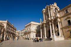 Quadrato principale, Siracusa, Sicilia immagini stock libere da diritti