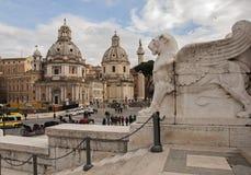 Quadrato a Roma Fotografie Stock Libere da Diritti