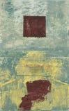Quadrato rosso astratto Fotografie Stock