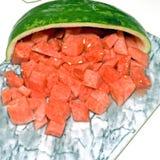 Quadrato rosso dell'anguria 3 Fotografia Stock