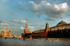 Quadrato rosso di Mosca nel giorno di estate Immagine Stock