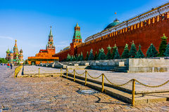 Quadrato rosso di Mosca nella sera di estate Fotografia Stock Libera da Diritti