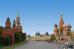 Quadrato rosso a Mosca Fotografie Stock