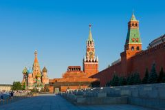 Quadrato rosso a Mosca Immagine Stock