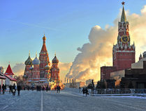 Quadrato rosso, Mosca Immagini Stock