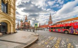 Quadrato rosso a Mosca Immagine Stock Libera da Diritti