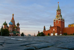 Quadrato rosso Mosca e cattedrale del basilico della st fotografia stock