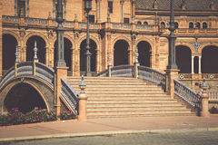 Quadrato spagnolo (Plaza de Espana) a Sevilla, Spagna fotografie stock