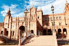 Quadrato spagnolo a Sevilla Fotografie Stock Libere da Diritti