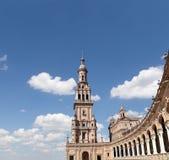 Quadrato spagnolo in Siviglia, Andalusia, Spagna Vecchio limite Fotografie Stock