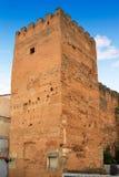Quadrato Torre de la Hierba di sindaco della plaza di Caceres Fotografie Stock Libere da Diritti