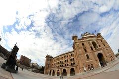 Quadrato tramite un fish-eye, Madrid di Las Ventas Fotografia Stock Libera da Diritti