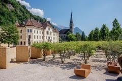 Quadrato a Vaduz, Liechtenstein fotografia stock