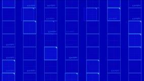 quadrato virtuale di numero 4k, linee di tecnologia di scienza, fondo di esame di griglia della matrice video d archivio