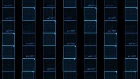 quadrato virtuale di numero 4k, linee di tecnologia di scienza, fondo di esame di griglia della matrice archivi video