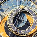 Quadrato zodiacale dell'orologio Fotografie Stock