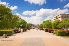 Quadri a Gdynia nel giorno soleggiato, Polonia Immagini Stock Libere da Diritti