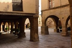 Quadri in Horta de Sant Joan, Terra Alta, la provincia di Tarragona, gatto Fotografie Stock