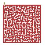 Quadri il labirinto Fotografia Stock