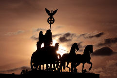 Quadriga of Brandenburg Gate Berlin Stock Photography