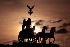 Quadriga of Brandenburg Gate Berlin Stock Photography