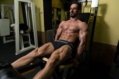 Quadriceps Exercises Stock Photo