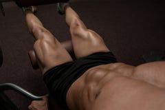 Quadriceps Exercises Royalty Free Stock Photography