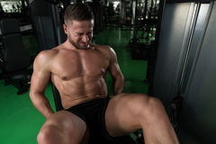 Quadriceps Exercises Close Up Royalty Free Stock Photography