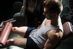 Quadriceps Exercises Close Up Royalty Free Stock Photo
