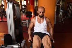 Quadriceps Exercises Close Up Stock Photo