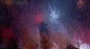 Quadriculação abstrata, fundo decorativo do grunge, com manchas caóticas e gotas obscuras da pintura na lona textured ilustração stock