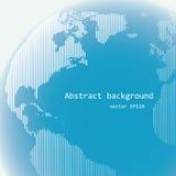 A quadriculação alinha o globo do mundo Imagem de Stock