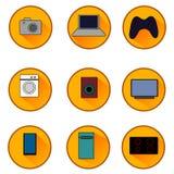 Quadriculação 1 dos dispositivos dos ícones 1 1 Fotografia de Stock Royalty Free