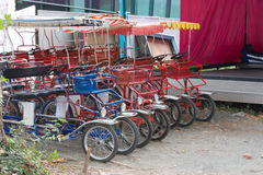 Quadricycles estacionados Fotos de archivo libres de regalías