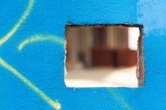 Quadrieren Sie Öffnung auf einer Wand Lizenzfreies Stockfoto