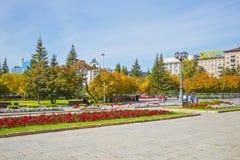 Quadrieren Sie, akademisches Opern- und Balletttheater Nowosibirsk-Staates Stockfotografie