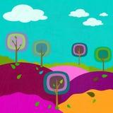 Quadriert Baumlandschaftshintergrund vektor abbildung
