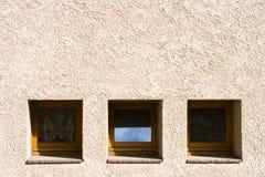 Quadrierte Fenster Stockbild