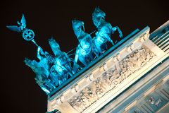 Quadrifa on Brandenburg Gate in Berlin, Germany Stock Image