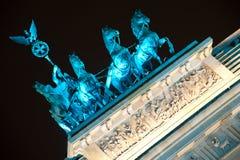 Quadrifa on Brandenburg Gate in Berlin, Germany Stock Image
