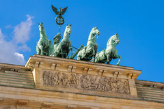 Quadriga άγαλμα. Βερολίνο, Γερμανία Στοκ Φωτογραφίες