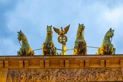 Quadriga, Βερολίνο, σκαπάνη Brandenburger Στοκ φωτογραφίες με δικαίωμα ελεύθερης χρήσης